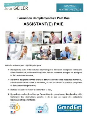 Formation complementaire assistant paie